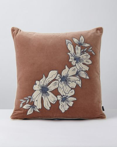 Carolyn Donnelly Eclectic Floral Appliqued Cushion