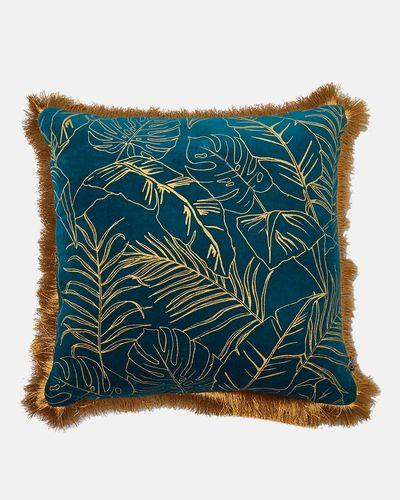 Carolyn Donnelly Eclectic Leaf Design Cushion
