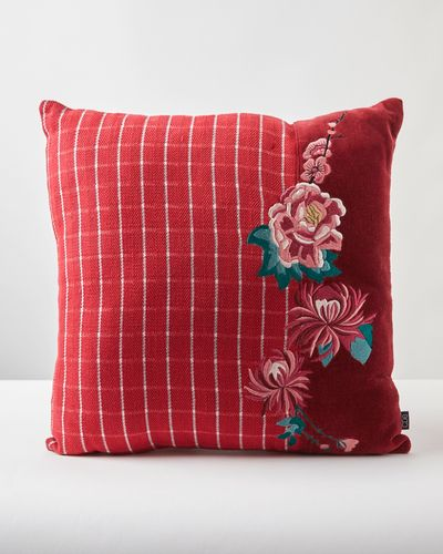 Carolyn Donnelly Eclectic Floral Tweed Panel Cushion