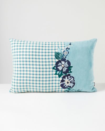 Carolyn Donnelly Eclectic Rectangle Tweed Floral Cushion