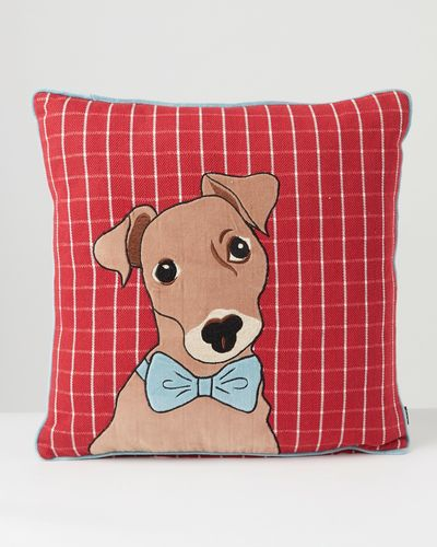 Carolyn Donnelly Eclectic Tweed Panel Dog Cushion