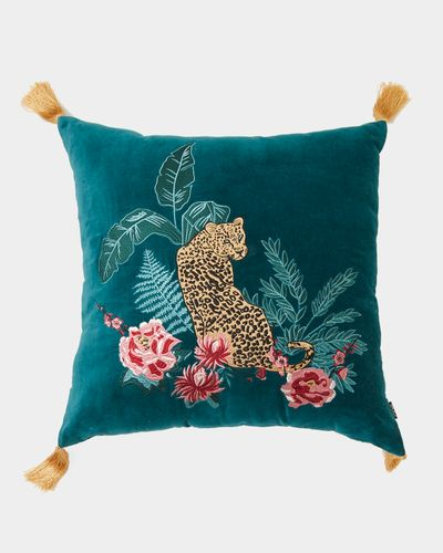 Carolyn Donnelly Eclectic Embroidered Tassel Cushion