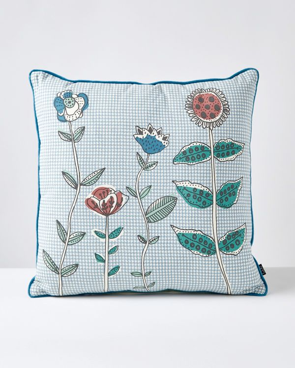 Carolyn Donnelly Eclectic Multi Stem Flower Cushion