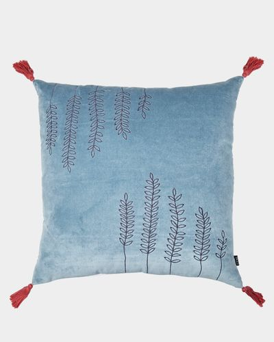Carolyn Donnelly Eclectic Velvet Tassle Sprig Cushion