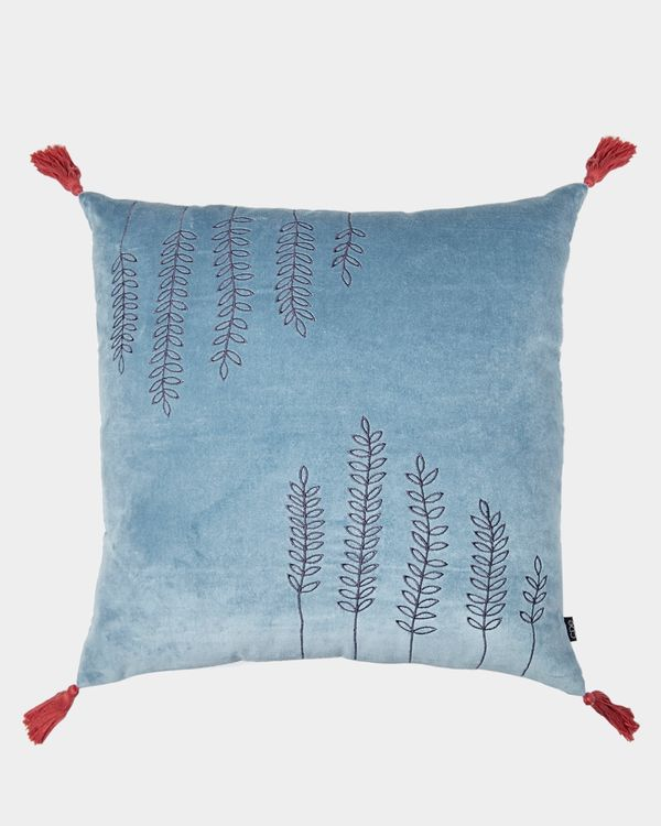 Carolyn Donnelly Eclectic Velvet Tassle Sprig Cushion