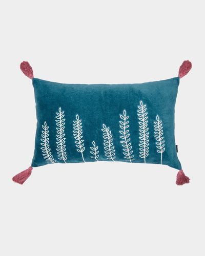 Carolyn Donnelly Eclectic Rectangular Tassle Sprig Cushion