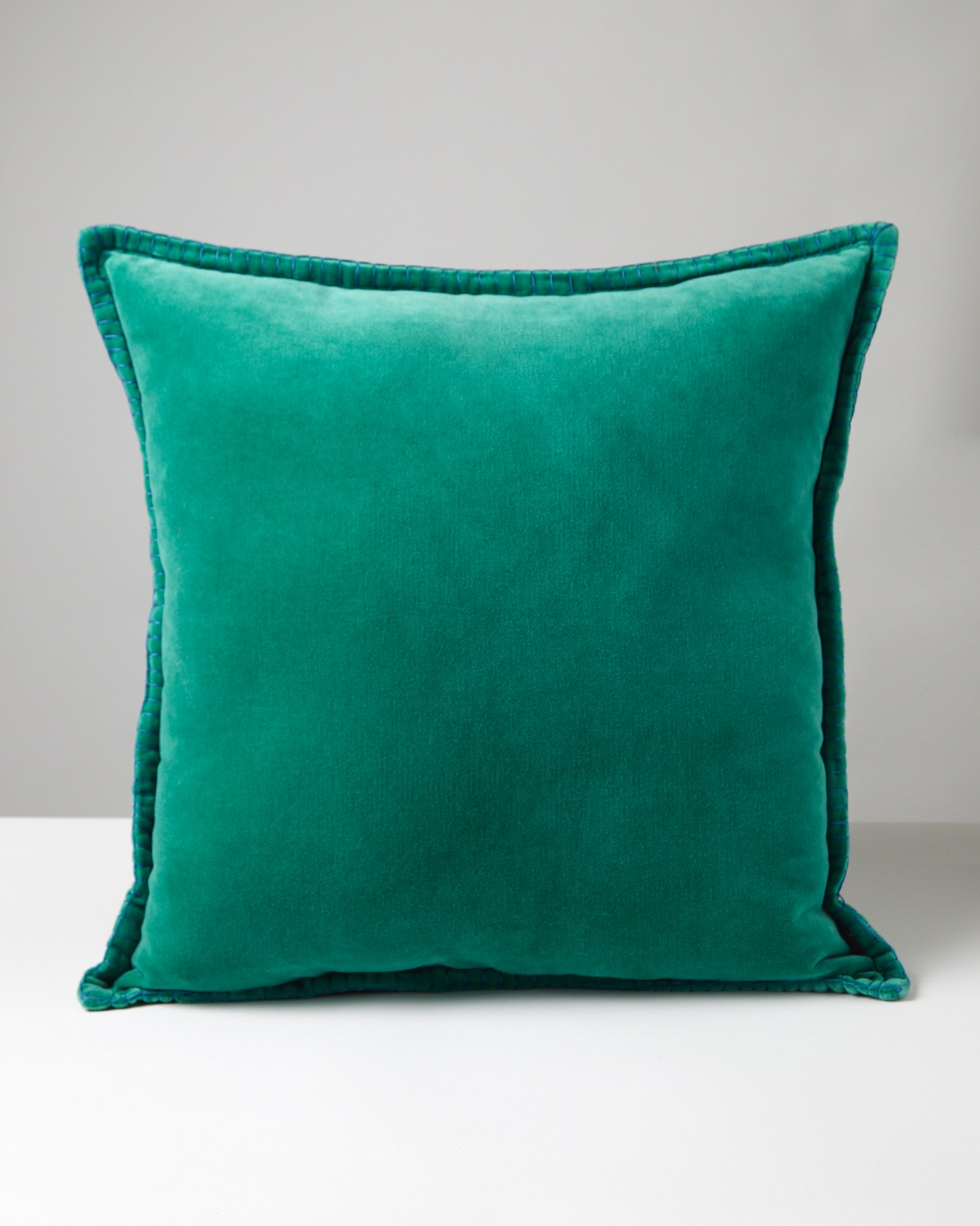 Dunnes Stores Green Carolyn Donnelly Eclectic Velvet Blanket Stitch Cushion