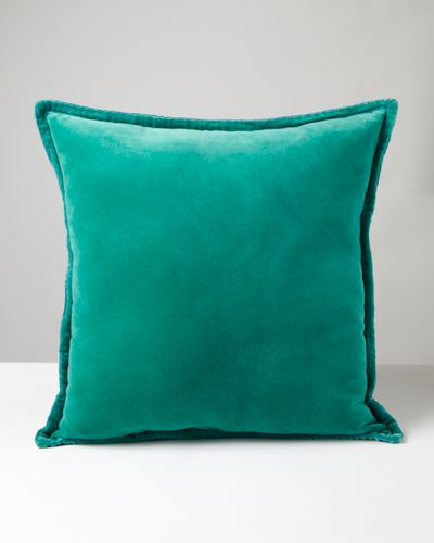 Carolyn Donnelly Eclectic Velvet Blanket Stitch Cushion