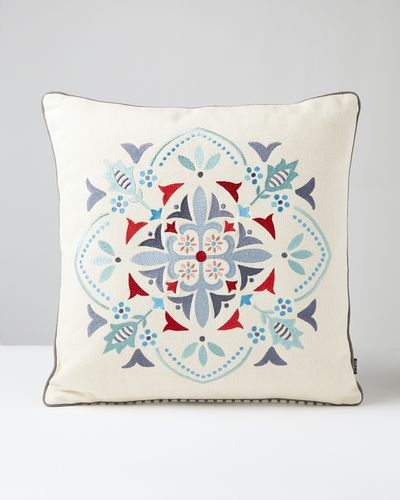 Carolyn Donnelly Eclectic Embroidered Geo Cushion