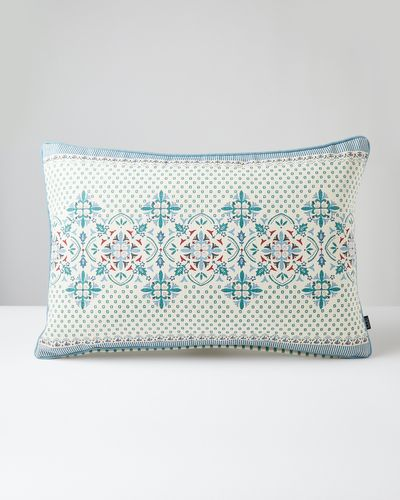 Carolyn Donnelly Eclectic Rectangle Geo Heavy Cotton Cushion