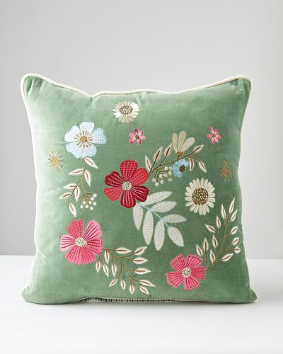 Carolyn Donnelly Eclectic Bloom Square Cushion thumbnail