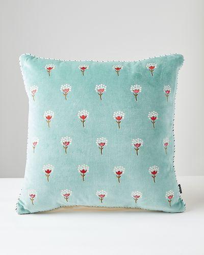 Carolyn Donnelly Eclectic Bloom Velvet Cushion thumbnail