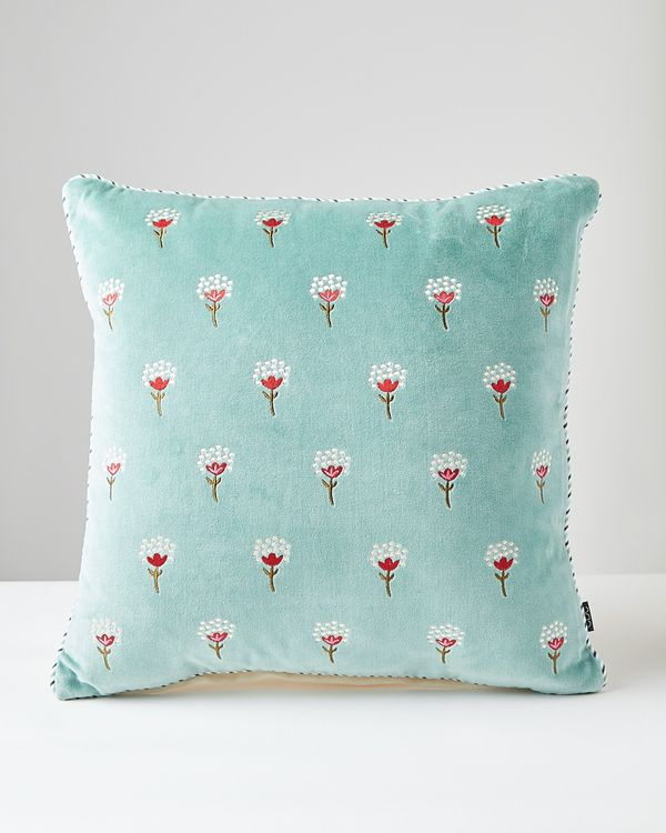 Carolyn Donnelly Eclectic Bloom Velvet Cushion
