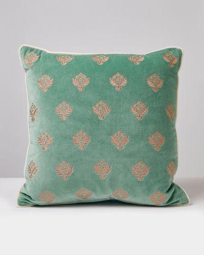 Carolyn Donnelly Eclectic Fleur Velvet Cushion