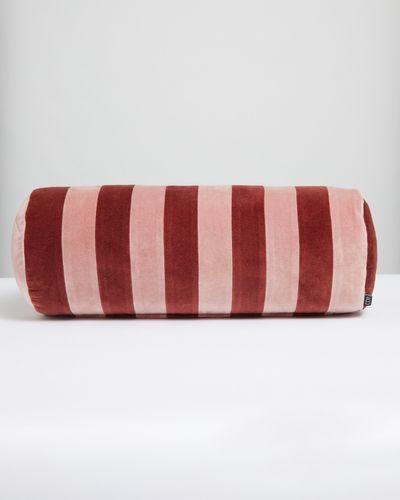 Carolyn Donnelly Eclectic Stripe Velvet Bolster Cushion