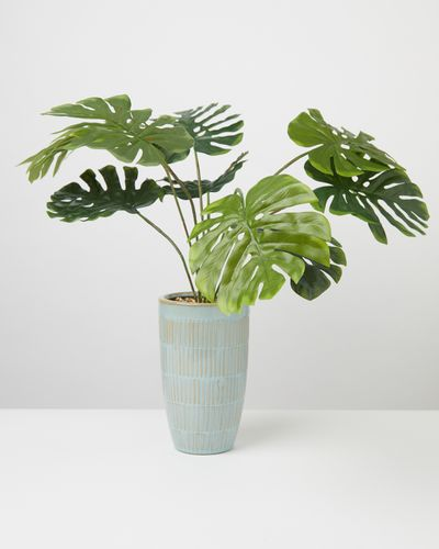 Carolyn Donnelly Eclectic Faux Monstera Plant In Pot