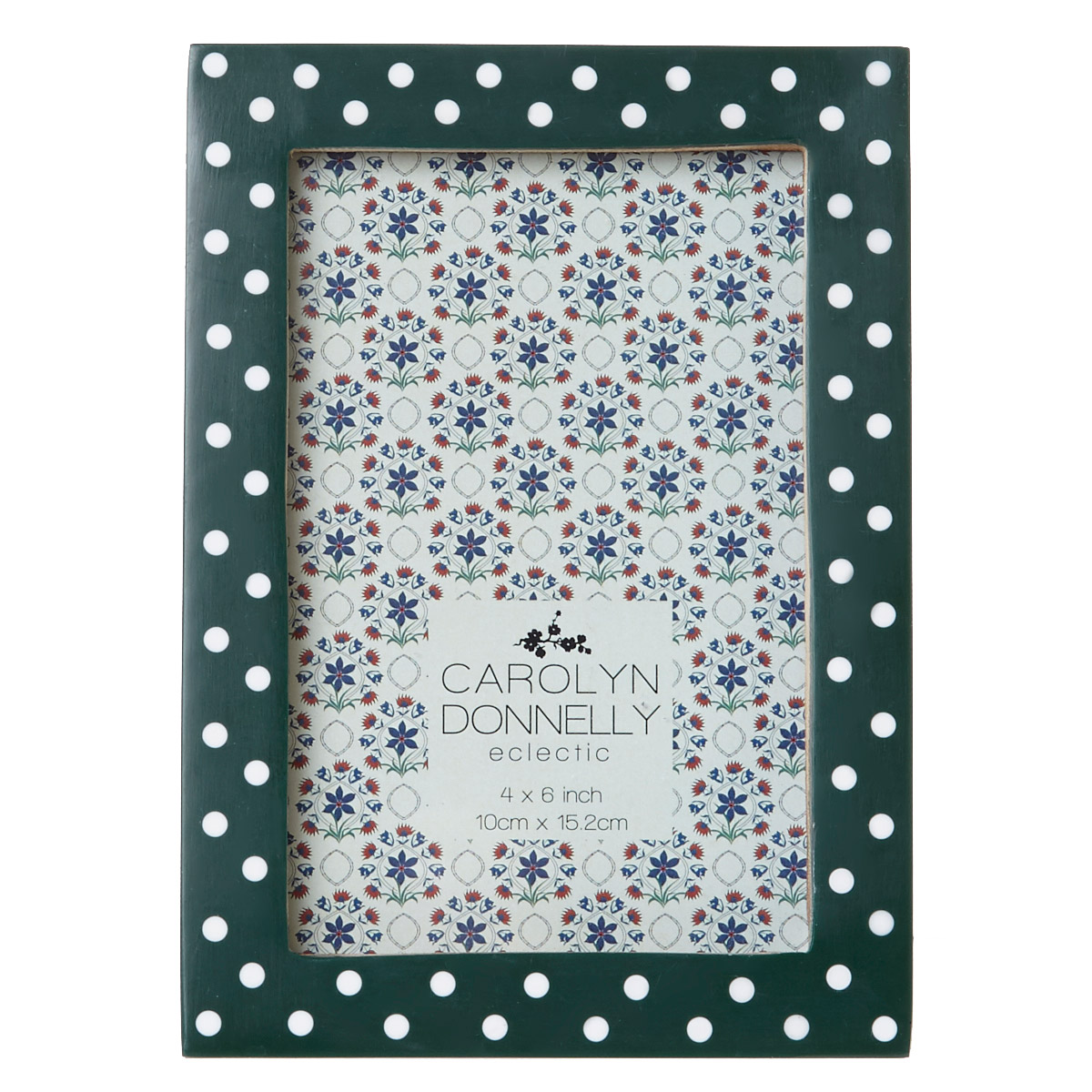 Dunnes Stores Dark Green Carolyn Donnelly Eclectic Polka Dot Frame