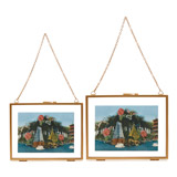 gold Carolyn Donnelly Eclectic Hanging Frame With Chain