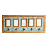 duck-egg Carolyn Donnelly Eclectic Printed Multiframe With Hooks