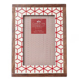 red Carolyn Donnelly Eclectic Geometric Frame