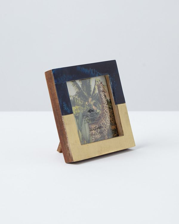 Carolyn Donnelly Eclectic Brass Inlay Frame
