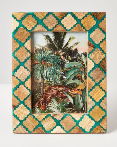 Carolyn Donnelly Eclectic Wood Emerald Frame