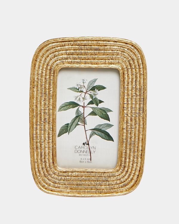 Carolyn Donnelly Eclectic Gold Ribbed Photo Frame