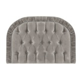 grey Carolyn Donnelly Eclectic Ruched Cotton Velvet Headboard