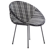 black Carolyn Donnelly Eclectic Weave Chair