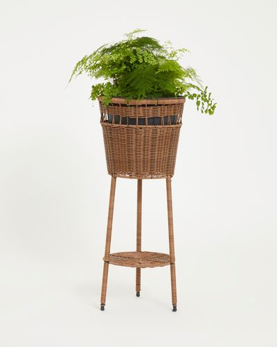 Carolyn Donnelly Eclectic Rattan Plant Stand