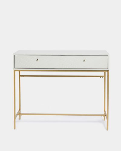 Carolyn Donnelly Eclectic Chevron Console Table