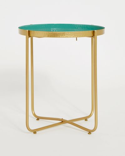 Carolyn Donnelly Eclectic Hammered Tray Table
