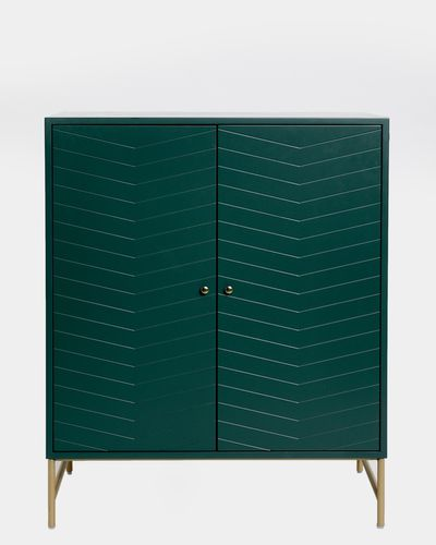 Carolyn Donnelly Eclectic Chevron Cabinet