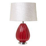 red Carolyn Donnelly Eclectic Olga Table Lamp