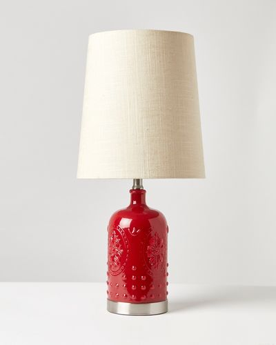Carolyn Donnelly Eclectic Bottle Glass Lamp thumbnail