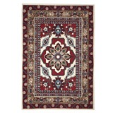 red Carolyn Donnelly Eclectic Petra Printed Rug