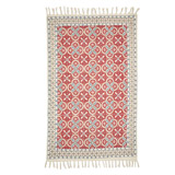 red Carolyn Donnelly Eclectic Stone Wash Rug