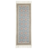 blue Carolyn Donnelly Eclectic Stone Wash Runner Rug