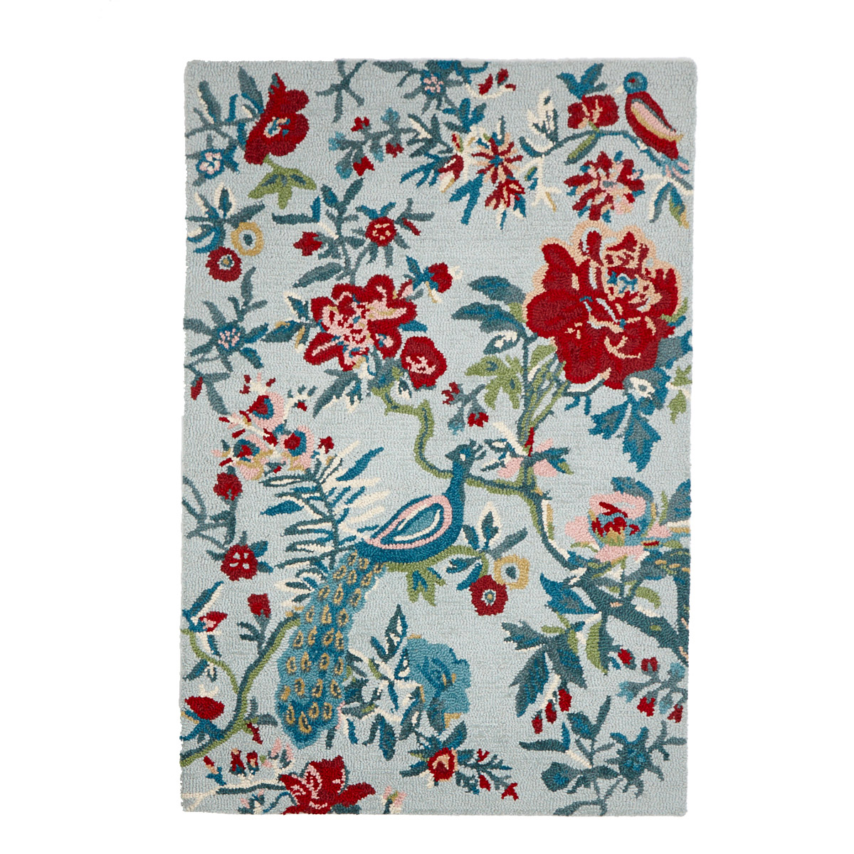 Multi Carolyn Donnelly Eclectic Peacock Rug