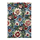 multi Carolyn Donnelly Eclectic Bloom Wool Rug