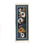 black Carolyn Donnelly Eclectic Stonewash Bloom Runner