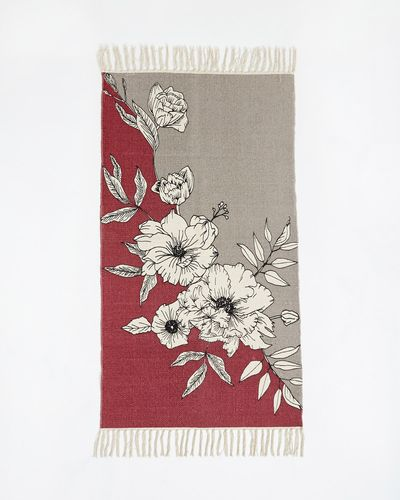 Carolyn Donnelly Eclectic Graphic Floral Mat