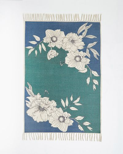 Carolyn Donnelly Eclectic Graphic Floral Rug