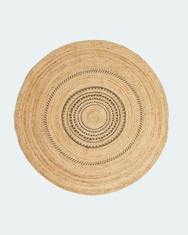 Carolyn Donnelly Eclectic Printed Jute Rug
