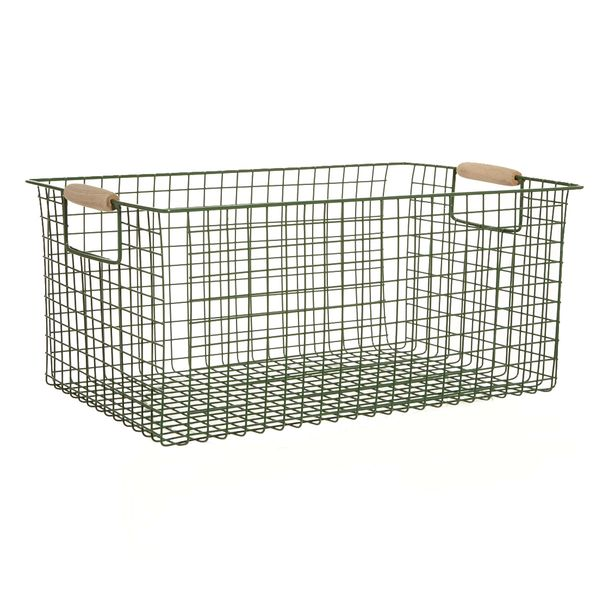 Carolyn Donnelly Eclectic Metal Storage Basket