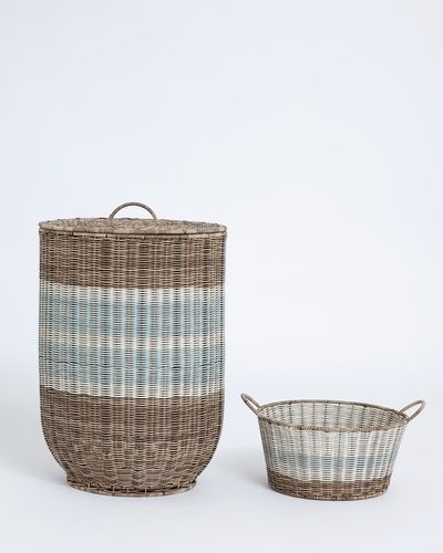 Carolyn Donnelly Eclectic Bali Laundry Basket