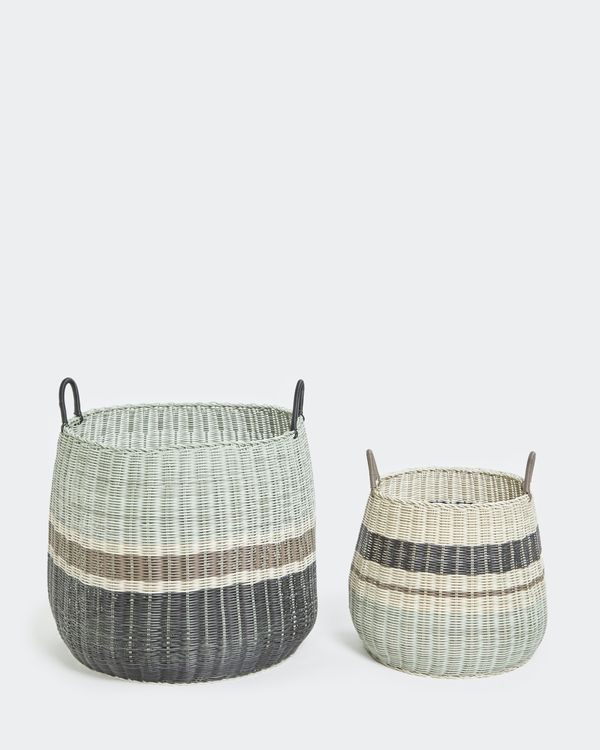 Carolyn Donnelly Eclectic Transportation Storage Basket