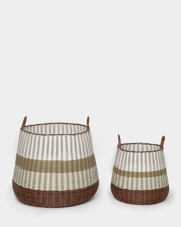 Carolyn Donnelly Eclectic Transportation Storage Basket