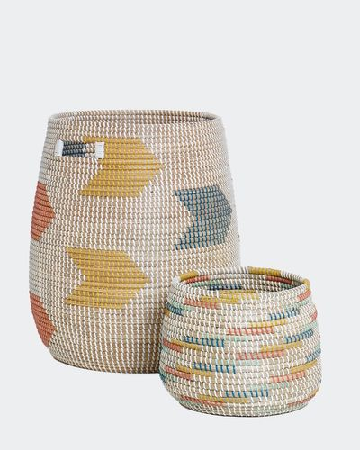 Carolyn Donnelly Eclectic Seagrass Storage Basket