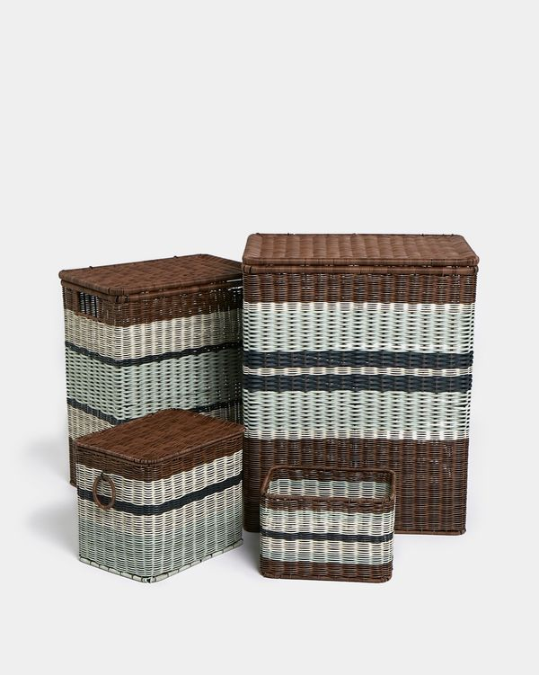 Carolyn Donnelly Eclectic Mekong Laundry Basket
